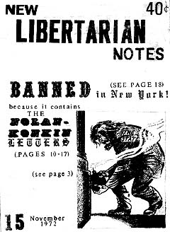 New Libertarian Notes #15 Cover