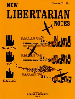 New Libertarian Notes #32 Cover