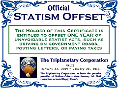 Statism Offset Certificate